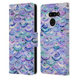 Head Case Designs Officially Licensed Micklyn Le Feuvre Marble Patterns Mosaic In Amethyst And Lapis Lazuli Leather Book Wallet Case Cover Compatible with LG G8 ThinQ