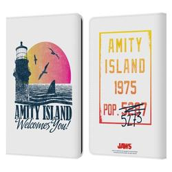 Head Case Designs Officially Licensed Jaws I Key Art Amity Island Leather Book Wallet Case Cover Compatible with Amazon Kindle Paperwhite 1 / 2 / 3