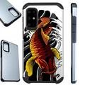 WORLD ACC Fusion Phone Case Compatible with Samsung Galaxy A51 4G Hybrid Cover (Red Koi Fish)