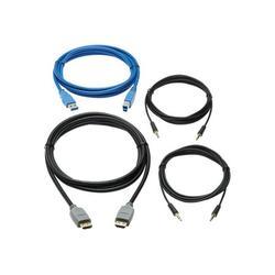 Tripp Lite Cable Kit HDMI KVM Cable Kit for Tripp Lite B005-HUA2-K and B005-HUA4 KVM 4K HDMI USB 3.1 Gen 1 3.5 mm 6 ft. P785HKIT06