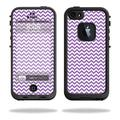 Mightyskins Protective Vinyl Skin Decal Cover for LifeProof iPhone 5/5s/SE Case fre Case wrap sticker skins Lavender Chevron
