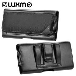 LG LPIP8LLU32HBK 5.5 in. Luxmo No.32 Horizontal Universal Leather Pouch for iphone - Black
