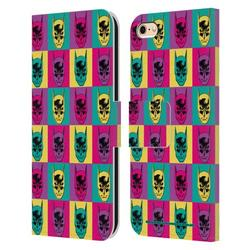Head Case Designs Officially Licensed Batman DC Comics Vintage Fashion Pop Art Head Leather Book Wallet Case Cover Compatible with Apple iPhone 6 / iPhone 6s