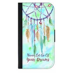Never Let Go of Your Dreams Quote - Dreamcatcher Watercolor Print - Galaxy s10p Case - Galaxy s10 Plus Case - Galaxy s10 Plus Wallet Case - s10 Plus Case Wallet - Galaxy s10 Plus Case Wallet - s10 Plu