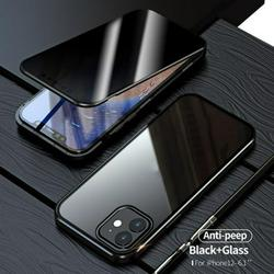 Oaktree-Anti-Peeping Privacy Magnetic Case Full Body Case Clear Tempered Glass Metal Bumper Protection For Iphone 12/Iphone 12 Max/Iphone 12 Pro/Iphone 12 Pro Max
