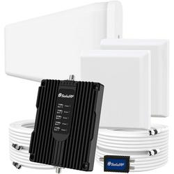 SolidRF Cell Phone Booster for Home Up to 8, 000 sq ft Dual Interior Antennas Office Multiroom Verizon, AT&T, T-Mobile, Sprint & More Signal Plus Cell Signal Booster Kit