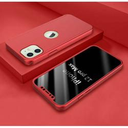 iPhone 12 Pro Max Case, iPhone 12 Pro Max (6.7 inch) Case Sturdy, Njjex Hard Plastic Case 360 Full Body Shockproof Protection With Tempered Glass Screen Protector Case for iPhone 12 Pro Max -Red