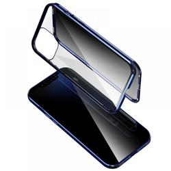 IPhone Case for Iphone 12/Iphone 12 Max/Iphone 12 Pro/Iphone 12 Pro Max Anti-Peeping Full Body Case Clear Tempered Glass Metal Bumper Protection Privacy Cover