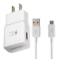 Adaptive Fast Wall Adapter Micro USB Charger for Huawei P Smart+ 2019 Bundled with UrbanX Micro USB Cable Cord 10ft Super Fast Charging Kit - White
