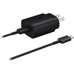 OEM Samsung 25W USB-C Super Fast Charging Wall Charger Compatible with Galaxy S20+ [ 25W OEM USB C Adapter + 4 Feet OEM USB C to USB C Cable ] 25W PD Super Fast Charging Wall Charger - Black