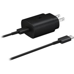 OEM Samsung 25W USB-C Super Fast Charging Wall Charger Compatibel with Galaxy A50 [ 25W OEM USB C Adapter + 4 Feet OEM USB C to USB C Cable ] 25W PD Super Fast Charging Wall Charger - Black