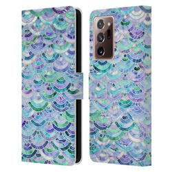 Head Case Designs Officially Licensed Micklyn Le Feuvre Marble Patterns Mosaic In Sapphire And Emerald Leather Book Case Compatible with Samsung Galaxy Note20 Ultra / 5G
