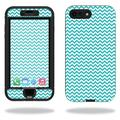 MightySkins Protective Vinyl Skin Decal for Lifeproof Nuud iPhone 7 Plus sticker wrap cover sticker skins Turquoise Chevron