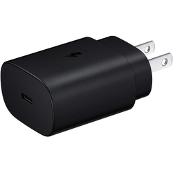 Adaptive Fast Charger 25W USB-C Super Fast Charging Wall Charger for vivo V20 2021 (USB-C Cable is NOT included) - Black (US Version With Warranty)