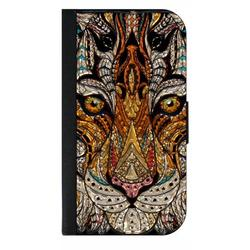 Stained Glass Matte Flat Print Image Design Tiger Animal Face - Galaxy s10p Case - Galaxy s10 Plus Case - Galaxy s10 Plus Wallet Case - s10 Plus Case Wallet - Galaxy s10 Plus Case Wallet - s10 Plus Ca