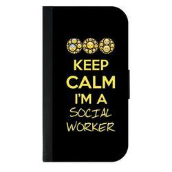 Keep Calm I'm a Social Worker - Appreciation Gift - Galaxy s10p Case - Galaxy s10 Plus Case - Galaxy s10 Plus Wallet Case - s10 Plus Case Wallet - Galaxy s10 Plus Case Wallet - s10 Plus Case Flip Cove