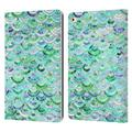 Micklyn Le Feuvre Marble Patterns Mosaic In Mint Quartz And Jade Leather Book Wallet Case Cover Compatible with Apple iPad 9.7 2017 / iPad 9.7 2018
