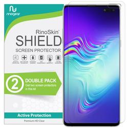 (2-Pack) RinoGear Screen Protector for Galaxy S10 5G (NOT Fit for Non-5G Galaxy S10 & S10 Plus version) (Fingerprint ID Compatible) Galaxy S10 5G Screen Protector Accessory Clear Film