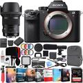 Sony a7R II Full-Frame Alpha Mirrorless Camera 42.4MP Body a7RII ILCE-7RM2/B with Sigma 50mm F1.4 ART DG HSM E-mount Lens and Deco Gear Backpack Kit Microphone Editing Suite Bundle