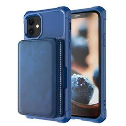 iPhone 12 mini Wallet Case, Dteck Leather Wallet Case with Credit Card Holder Slot Wallet Zipper Wallet Pocket Purse for Apple iPhone 12 mini 5.4-inch 2020, Blue