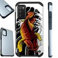 Compatible with Samsung Galaxy A02s Hybrid Fusion Guard Phone Case Cover (Red Koi Fish)