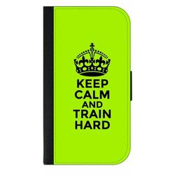 Keep Calm and Train Hard Quote Galaxy s10p Case - Galaxy s10 Plus Case - Galaxy s10 Plus Wallet Case - s10 Plus Case Wallet - Galaxy s10 Plus Case Wallet - s10 Plus Case Flip Cover