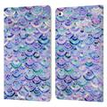 Head Case Designs Officially Licensed Micklyn Le Feuvre Marble Patterns Mosaic In Amethyst And Lapis Lazuli Leather Book Case Compatible with Apple iPad mini (2019)