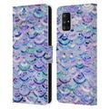 Micklyn Le Feuvre Marble Patterns Mosaic In Amethyst And Lapis Lazuli Leather Book Wallet Case Cover Compatible with Samsung Galaxy A71 5G (2020)