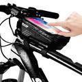EEEkit Bike Phone Front Frame Bag -Handlebar Bag Mountain Bicycle Phone Waterproof Bike Front Tube Handlebar Pannier Phone Bag Bicycle Bag with Touch Screen Phone Case for iPhone 8/7 plus/7/6s/6 plus