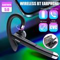 Bluetooth 5.0 Wireless Earpiece Business Driving Trucker Headset Earbuds Noise Reduction Hands-Free Call