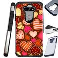 Compatible with LG K31 Rebel Hybrid Fusion Guard Phone Case Cover (Chocolate Hearts)