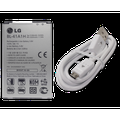 Genuine Battery BL-41A1H for LG Lancet, Optimus F60, Tribute, Transpyre with LG DC09WK MicroUSB Data Cable - 100% OEM Brand NEW in Non-Retail Packaging