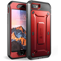 SUPCASE Unicorn Beetle Pro Series Case Designed for iPhone 7/iPhone 8/ iPhone SE 2nd Generation (2020 Release), Full-Body Rugged Holster Case with Built-in Screen Protector (Metallic Red)