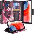 Moto G Play 2021 Case,Motorola Moto G Play (2021) Wallet Case, [Kickstand Feature] Pu Leather Wallet Case with ID & Card Slots Case for Moto Play 2021 case -Hot Pink Heart