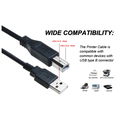 ABLEGRID 6ft USB Data Cable Cord Lead For Companion 3 Series II or 5 2.1 Multimedia Computer Speakers(with Ferrite Core)