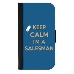 Keep Calm I'm a Salesman - Sales Man - Galaxy s10p Case - Galaxy s10 Plus Case - Galaxy s10 Plus Wallet Case - s10 Plus Case Wallet - Galaxy s10 Plus Case Wallet - s10 Plus Case Flip Cover