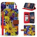 Beyond Cell Infolio Series Wallet Case Compatible with LG Stylo 4, LG Stylo 4+ Plus with Synthetic PU Leather, Card Slots, Magnetic Flip Cover and Atom Wipe - Yellow Spring Flowers