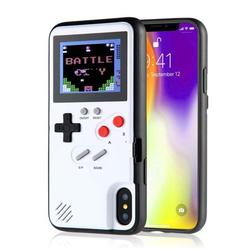 Gameboy Case for iPhone,Retro 3D Gameboy Design Style Silicone Cover Case with 36 Small Games,Color Screen,Video Game Cover Case for iPhone X/MAX,iPhone8/8 Plus,iPhone 7/7 Plus,iPhone 6/6Plus