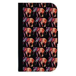 Patterned Elephants - Galaxy s10p Case - Galaxy s10 Plus Case - Galaxy s10 Plus Wallet Case - s10 Plus Case Wallet - Galaxy s10 Plus Case Wallet - s10 Plus Case Flip Cover