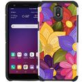 LG Tribute Royal / LG Prime 2 / LG Aristo 4+ / LG K30 2019 / LG Arena 2 / LG Escape Plus Case - Colorful Design Hybrid Armor Case Shockproof Dual Layer Protective Phone Cover - Coloful Flower