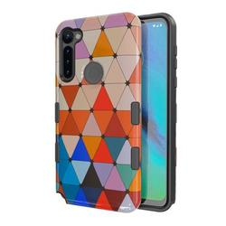 For Motorola Moto G Stylus Case, by Insten Tuff Subs Hybrid Triangle Squad Dual Layer [Shock Absorbing] Hard Plastic/Soft TPU Rubber Case Cover Compatible with Motorola Moto G Stylus, Multi-Color