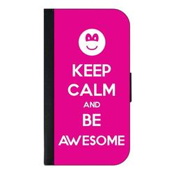 Keep Calm and Be Awesome - Galaxy s10p Case - Galaxy s10 Plus Case - Galaxy s10 Plus Wallet Case - s10 Plus Case Wallet - Galaxy s10 Plus Case Wallet - s10 Plus Case Flip Cover