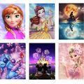 6-Piece Diamond Painting Kit, Diamond Painting Kits for Adults, 5D Diamond Art Wall Decoration, Anime Princess (12x16inch)