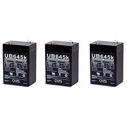 Universal Power Group Ub645 Ps640 6V 45Ah Sealed Lead Acid Sla Alarm Battery Pack Of 3 Batteries