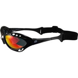 Birdz Seahawk Padded Floating Polarized Sunglasses w/ Built in Strap Black Frame and Polarized ReflecTech Red Mirror Lens