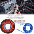 Mgaxyff Car Audio Subwoofer Wire, Car Audio Subwoofer Installation Kit,4 Guage 2800W Car Audio Subwoofer Amplifier Speaker Installation Wire Cable Kit Fuse Suit