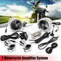 SPK500 2 Speakers 600 Watt Weatherproof Speaker Kit B luetooth / AUX Wired Amplifier Handlebar Stereo Audio Amp System for Motorcycle ATV Snowmobile 2 Colors