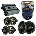 Compatible with BMW Z4 2003-2008 Factory Speaker Replacement Kicker Bundle DSC65 DSC35 & Harmony HA-A400.4