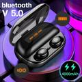 LED Display bluetooth 5.0 Earphone 4000mAh Power Bank TWS Wireless Waterproof Sport Stereo Earbuds Headset