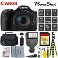 Canon HS Digital Point and Shoot Camera + Extra Battery + Digital Flash + Camera Case + 16GB Class 10 Memory Card + 2 Year Extended Warranty (Total of 3YR) - Intl Model